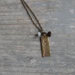 Handstamped Love & Savor Necklaces