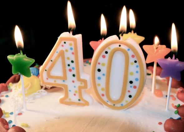 Birthday Candles 40
