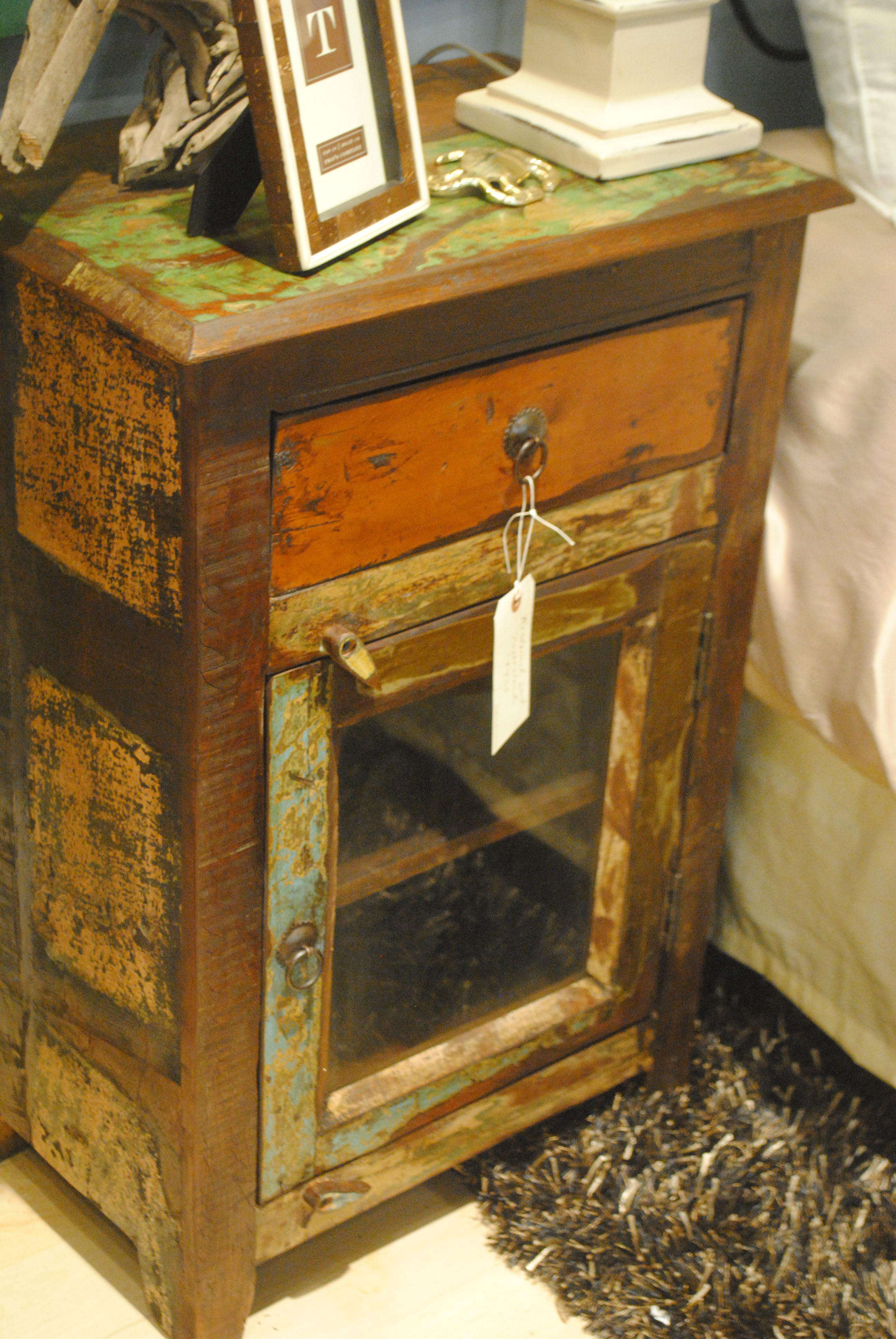 Reclaimed Wood End Table Su Casa Furniture