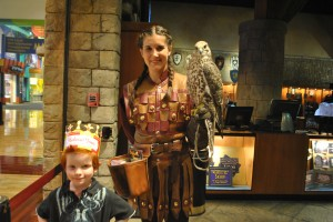Medieval Times Falcon and Handler