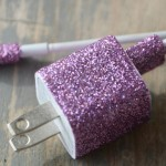 Glitterized Phone Charger DIY Project