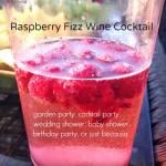 Raspberry Fizz Wine Cocktail