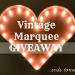 Rustic Marquee GIVEAWAY Ends Tomorrow!