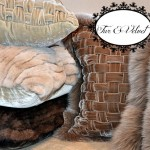 Luxurious NEW Fur And Velvet Pillow And Throws