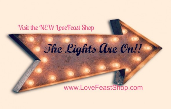 Rustic Marquee Light www.lovefeastshop.com