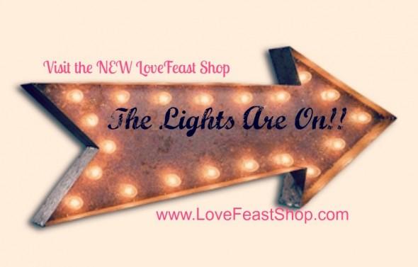Rustic Marquee Light www.lovefeastshop.com