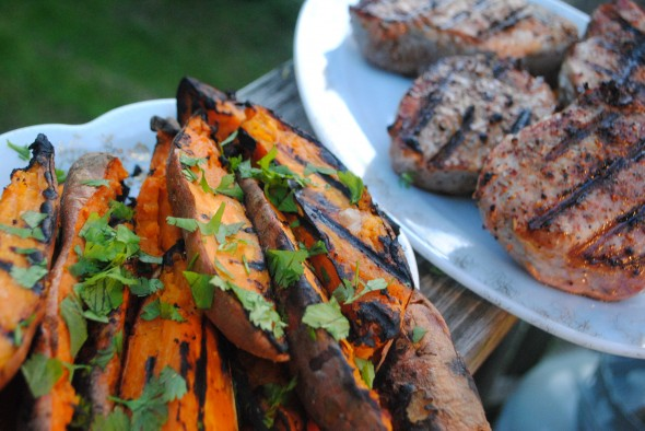 Grilled Sweet Potatoes www.lovefeasttable.com