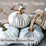 Metalilc Linen Plush Pumpkin