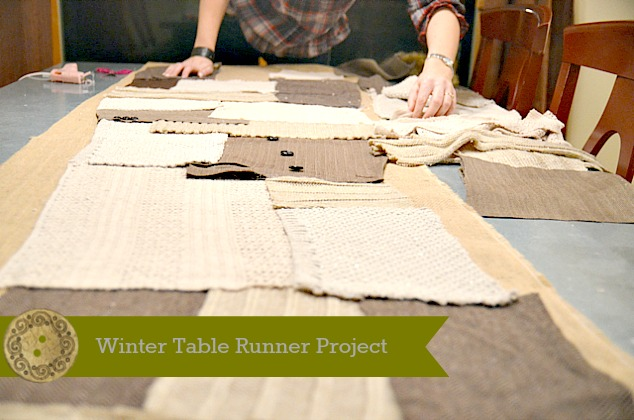Winter Table Runner DIY Proje