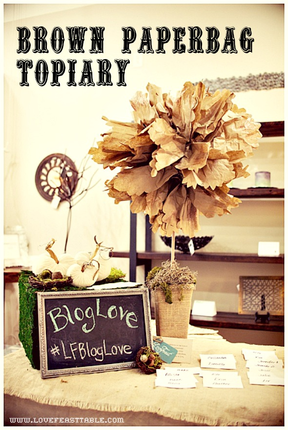 brown bag topiary project http://lovefeasttable.com/blog/paper-topiary-tree-decoration/