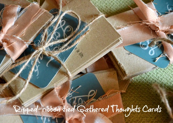 Gathered Thoughts Cards http://www.lovefeastshop.com