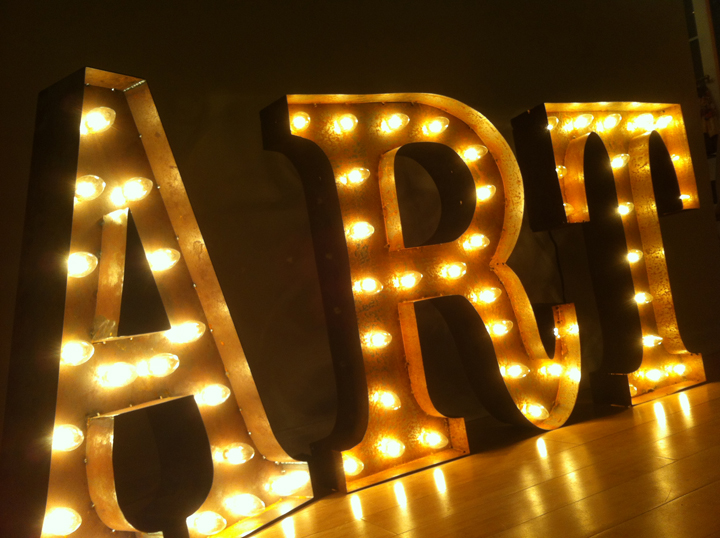 Vintage Marquee Lights http://lovefeastshop.com