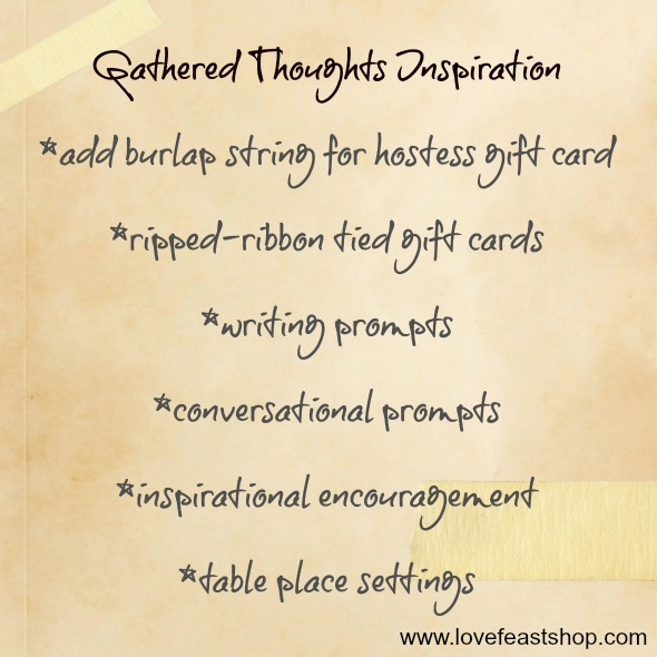 http://lovefeastshop.com Gathered Thoughts Inspiration