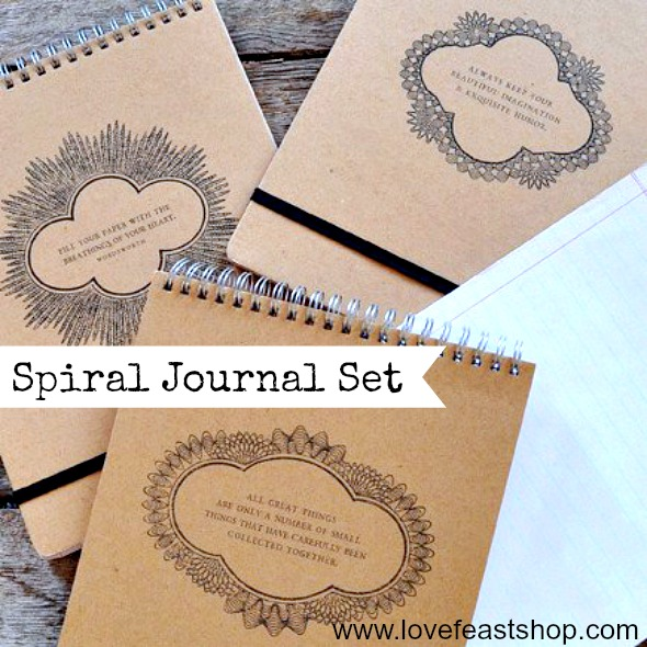 spiral journals http://www.lovefeastshop.com
