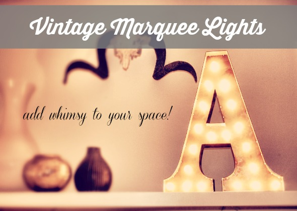 Vintage Marquee Light http://www.lovefeastshop.com