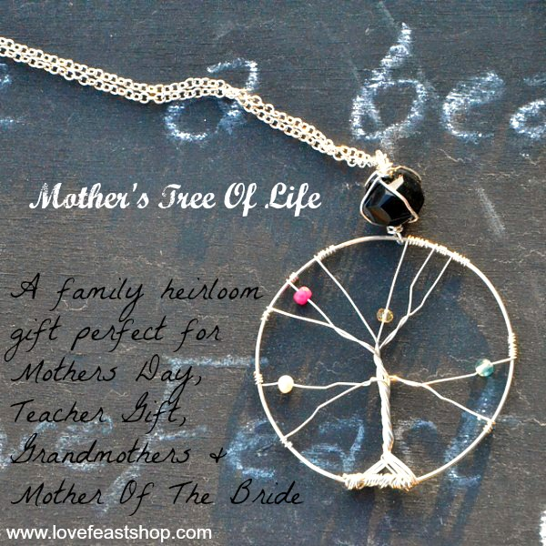 Mother's Tree Of Life Necklace http://lovefeastshop.com