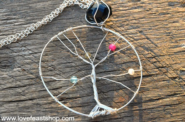Mother's Tree Of Life Necklace http://www.lovefeastshop.com