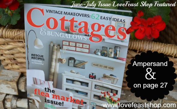 Ampersand & Vintage Marquee Light Cottages & Bungalows http://www.lovefeastshop.com