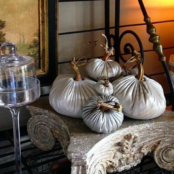 Metallic Linen Pumpkins http://www.lovefeastshop.com