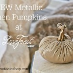 NEW Metallic Linen Pumpkins