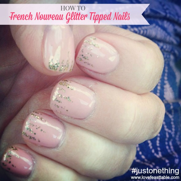 French-Nouveau-Glitter-Tipped-Nails www.lovefeasttable.com