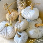 Metallic Linen Plush Pumpkins