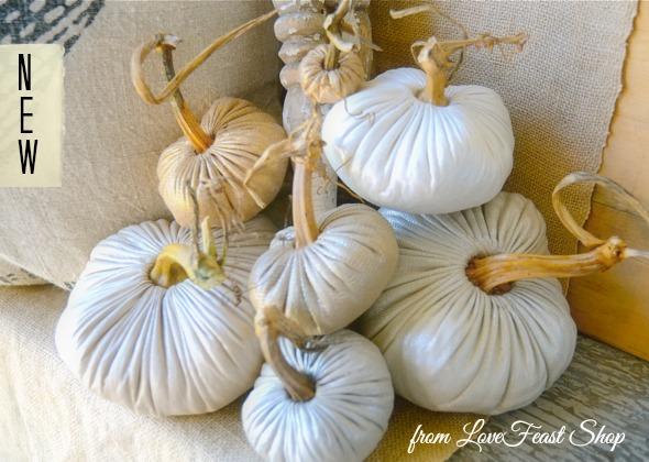 Linen Pumpkins http://www.lovefeastshop.com