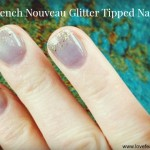 French Nouveau Glitter Tipped Nails