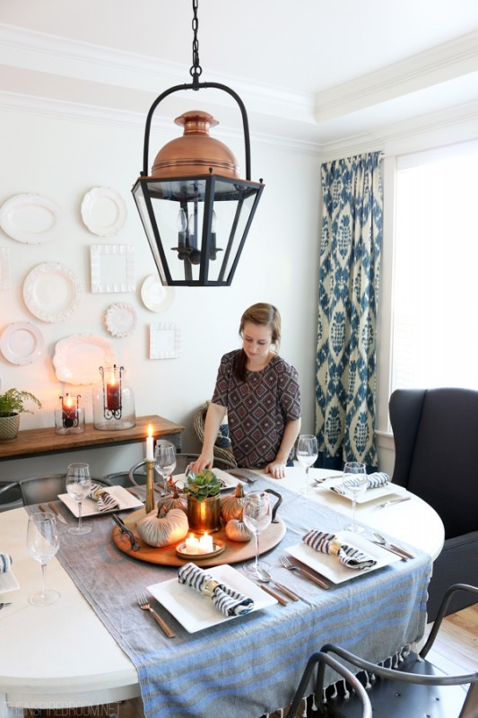 Cozy Fall Dining Room - The Inspired Room