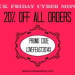 Black Friday Cyber Monday Sale www.lovefeastshop.com