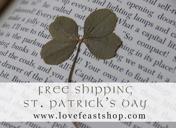 Free Shipping at www.LoveFeastShop.com