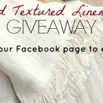 Giveaway Couture Dreams ChiChi Linen Throw