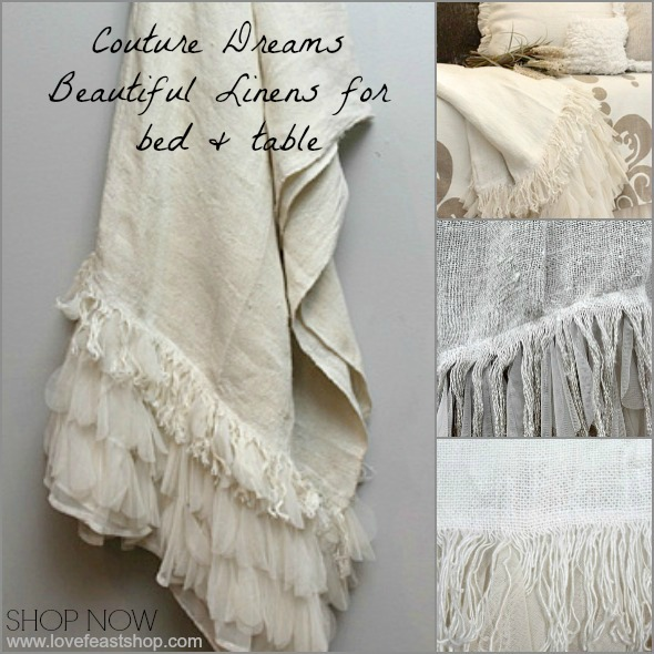 Couture Dreams Lines for bed  table and home www.lovefeastshop.com