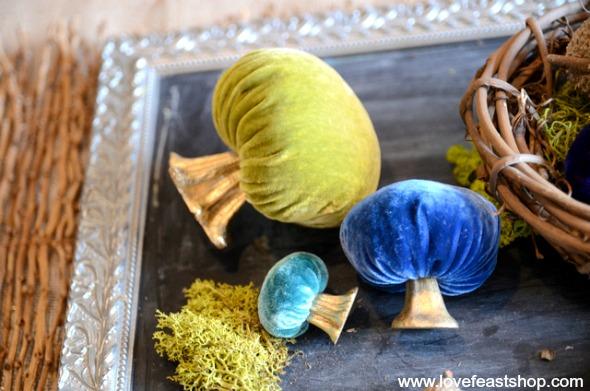 Velvet Mushrooms www.lovefeastshop.com