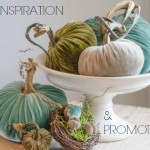 Fall Decor & Promos with Velvet Pumpkins